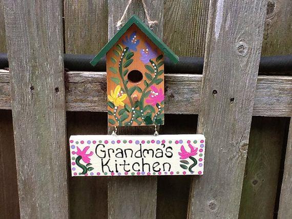 Grandmother kitchen sign by LazyHoundWorkshop on Etsy, $14.00
