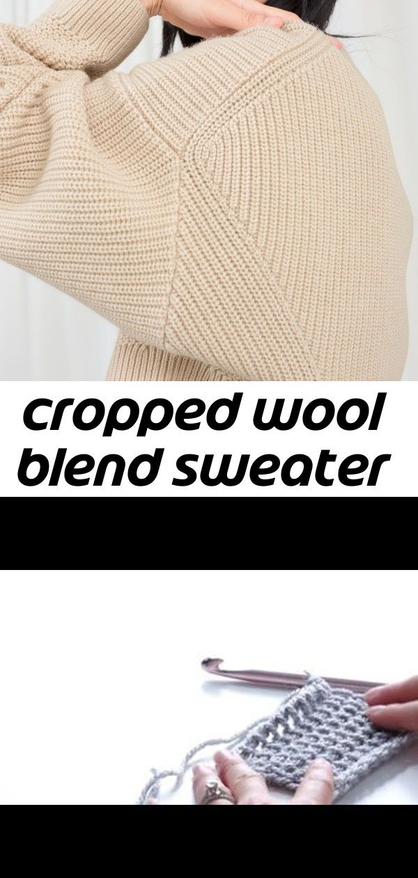 Photo of Cropped wool blend sweater