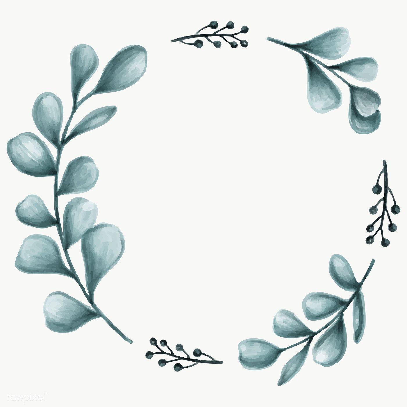 Minimal Leaves Frame Transparent Png Premium Image By Rawpixel Com Noon Flower Illustration Green Leaf Background Leaves Illustration