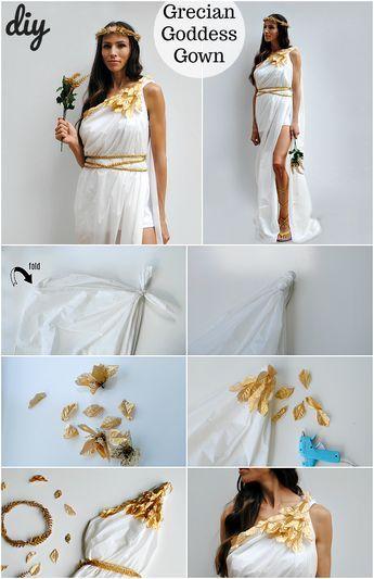 A Dollar Tree Halloween Series: Greek Goddess Costume #dollartreecrafts
