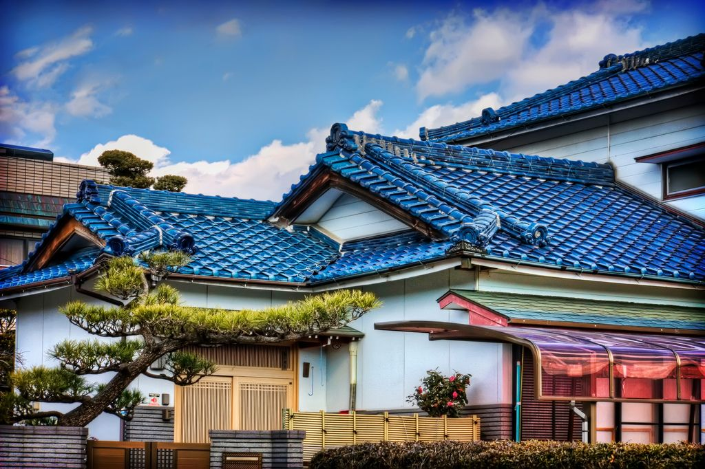 Blue Roof Tiled Japanese House This Is My Favorite Roof