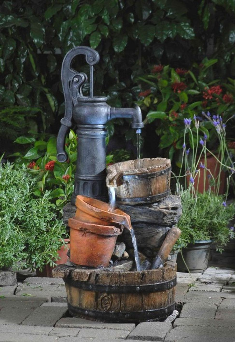 Creative DIY Inspirations Water Fountains In Backyard