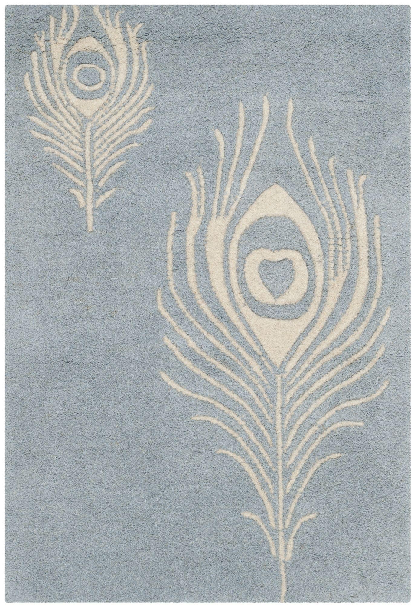 Argana Light Blue / Ivory Contemporary Rug