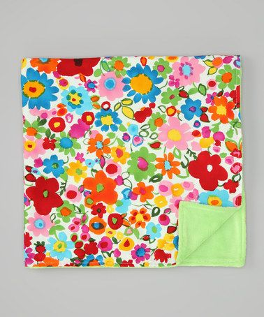 Take a look at this Infantissima Green Mona Floral Minky Stroller Blanket by Infantissima on #zulily today!