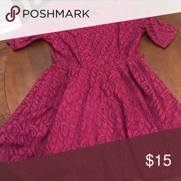 Pretty Purple Dress Great Condition Except Missing Belt