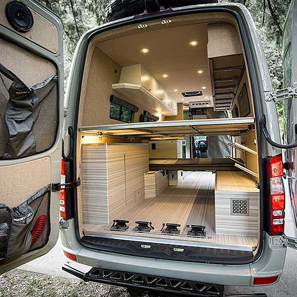 Valhalla 4x4 camper mercedes sprinter vans and van life for Mercedes benz conversion vans for sale