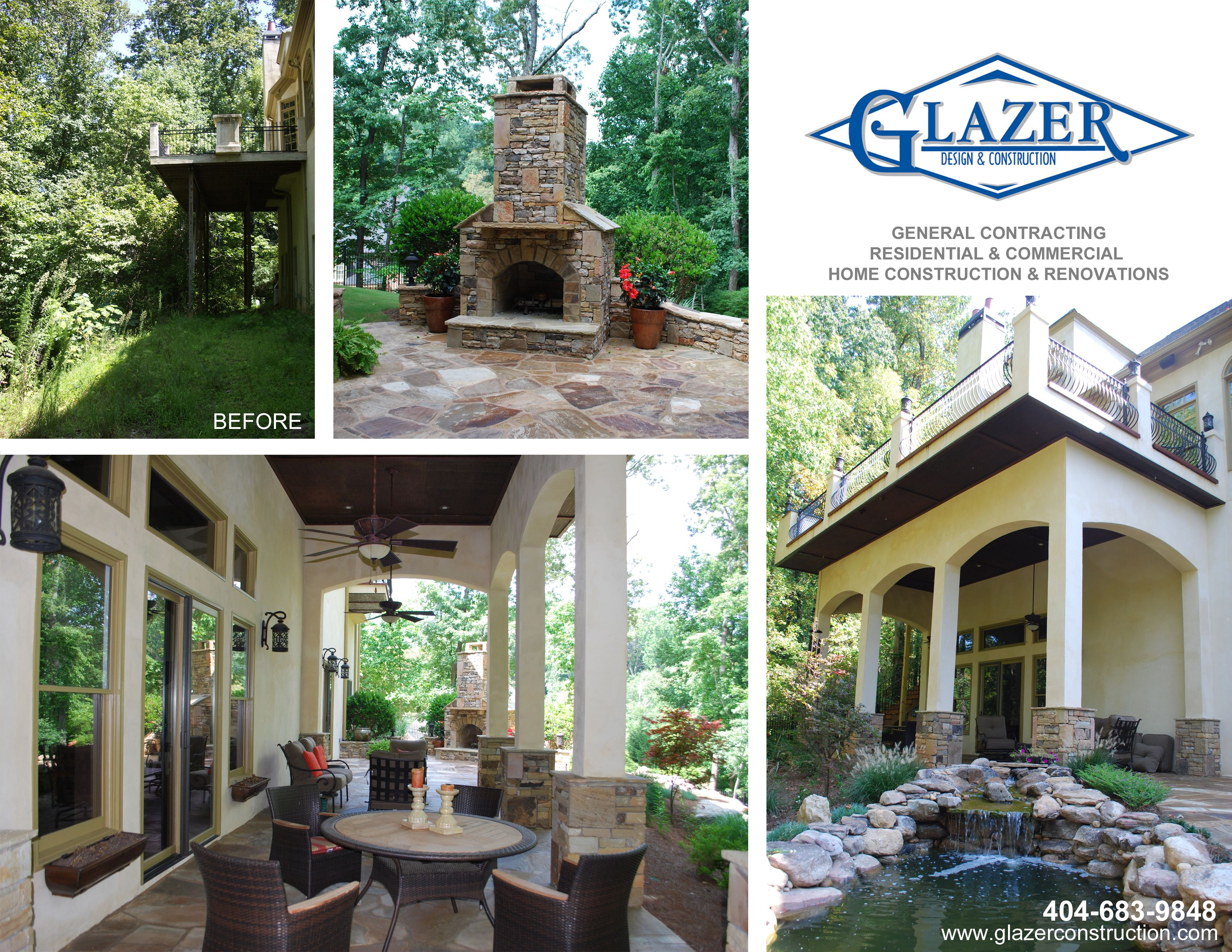 Outdoor Space Waterfall Coy Pond And New Porch Glazer Design And