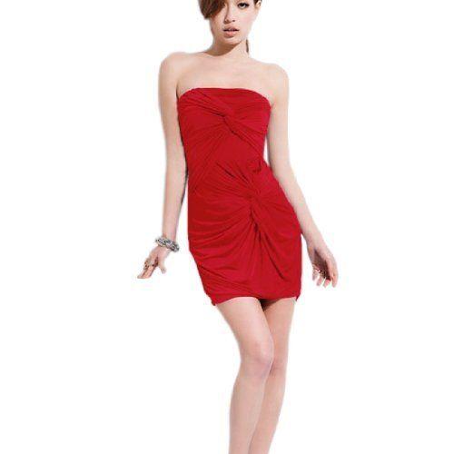 Allegra K Women Strapless Knot Accent Front Sexy Mini Dress Red XS Allegra K, http://www.amazon.com/dp/B00858UD1A/ref=cm_sw_r_pi_dp_SJlHqb1RBPYX7 $9.88