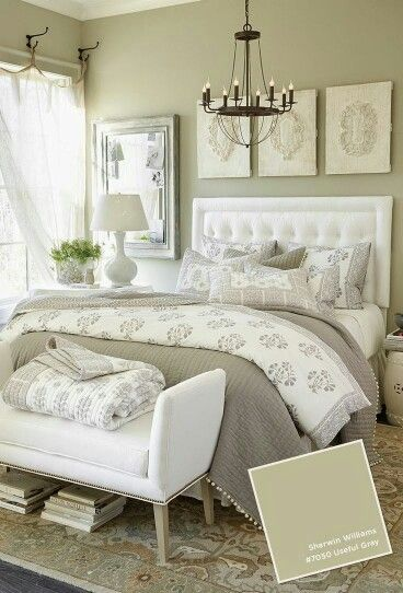 We think light grey is the perfect colour scheme for a bedroom It\u0027s