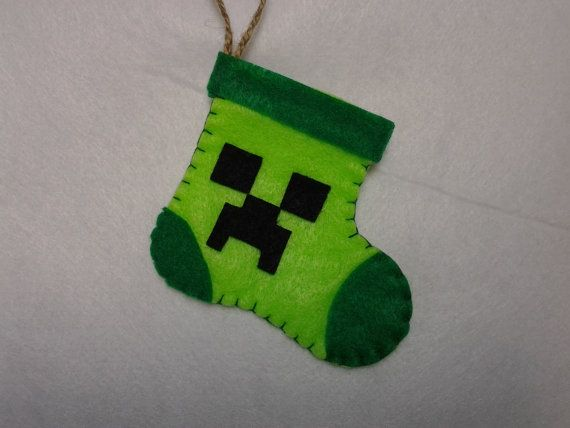 Minecraft Creeper Stocking (Gift card holder)
