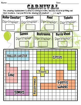12 Palge Workbook On Perimeter And Area Using Different Worksheets