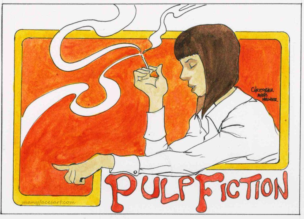 Pulp Fiction Art Nouveau Style (after Meunier) by C21