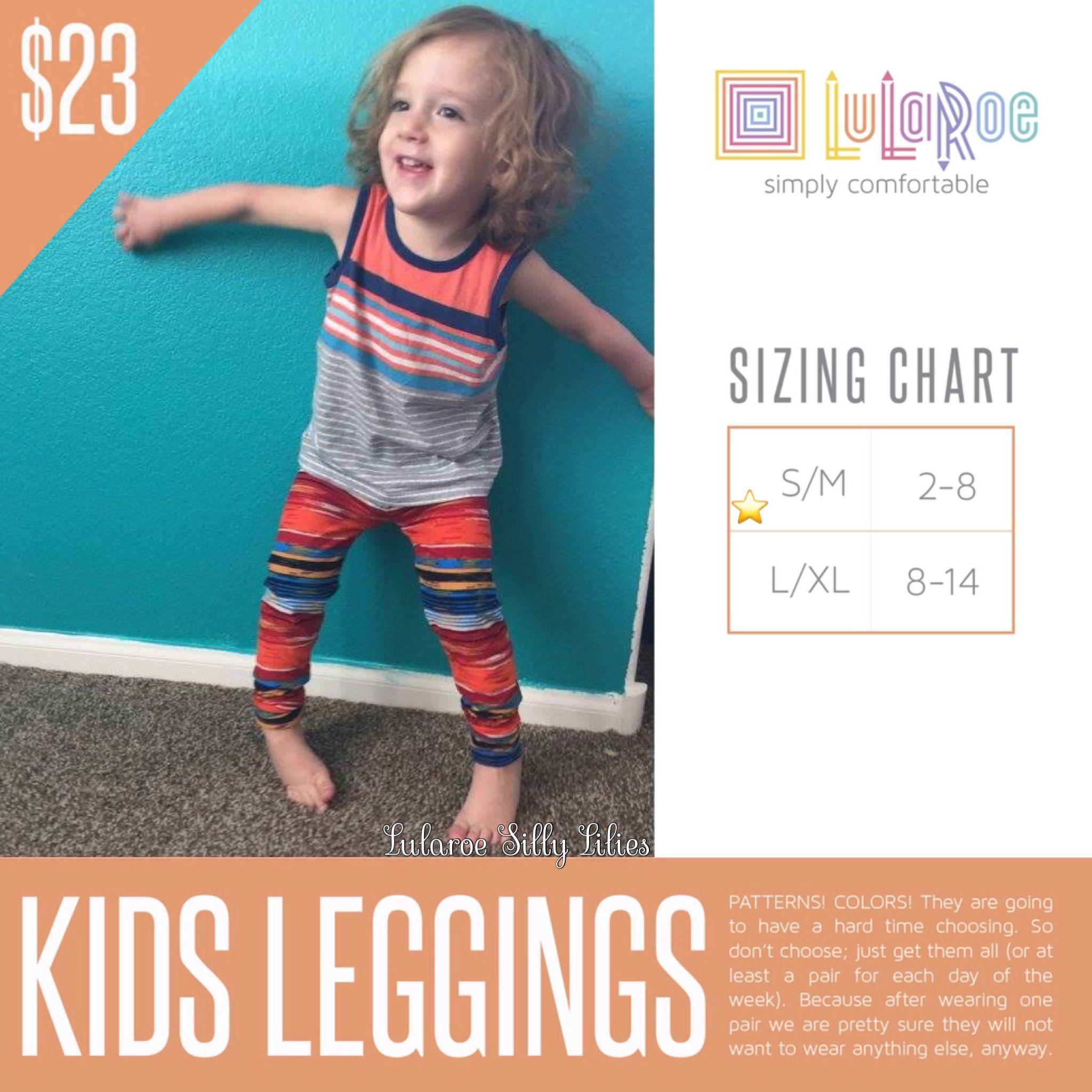Kids Leggings https//www.facebook.com/groups/lularoesillylilies/ | Lularoe size charts ...