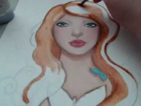 How To Paint Hair Strawberry Blond Part 1 Katcanpaint Painting Tutorial Hair Painting Painting