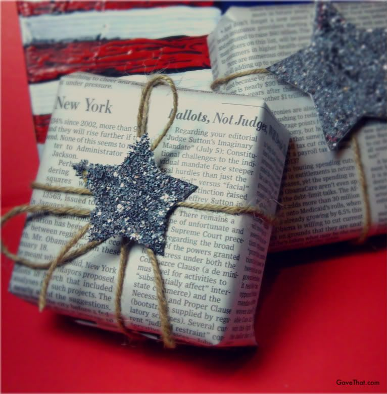Newspaper as gift wrap - Newspaper, it's not just for reading ...