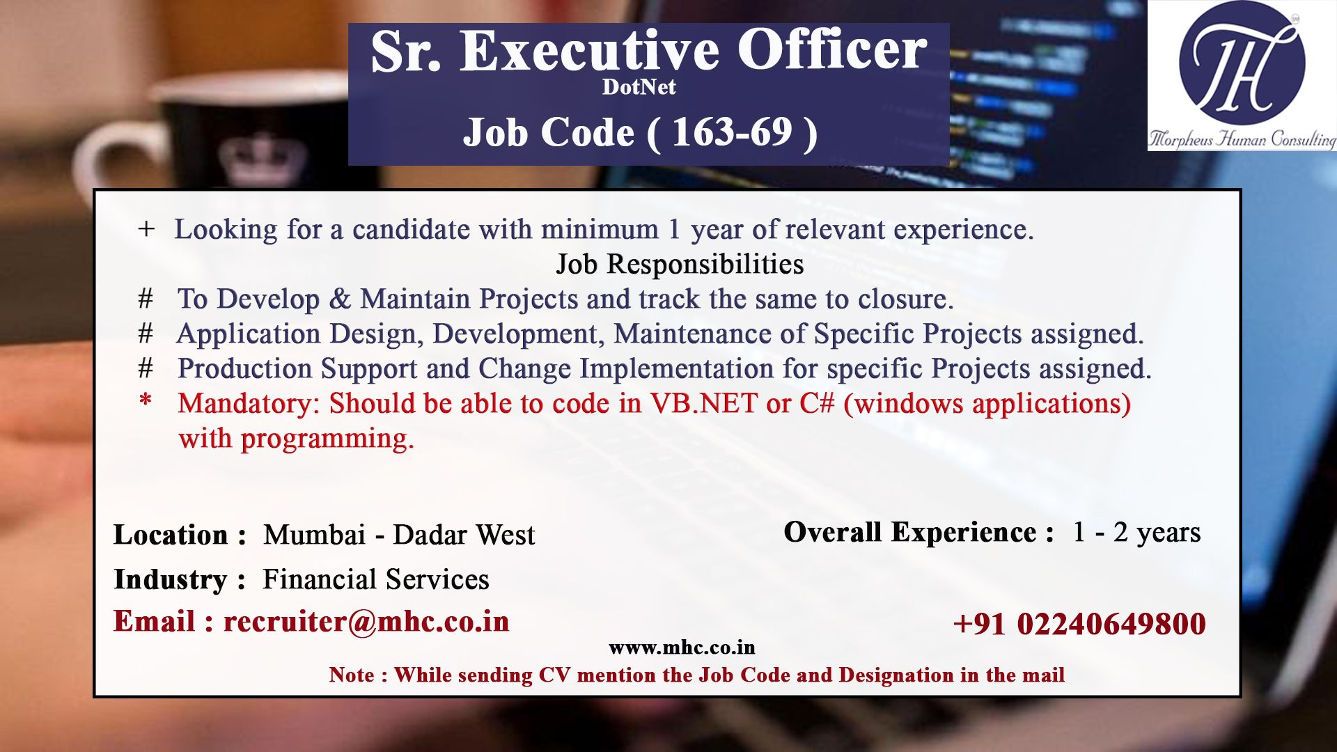 Pin by Morpheus consulting on Job postings Job opening