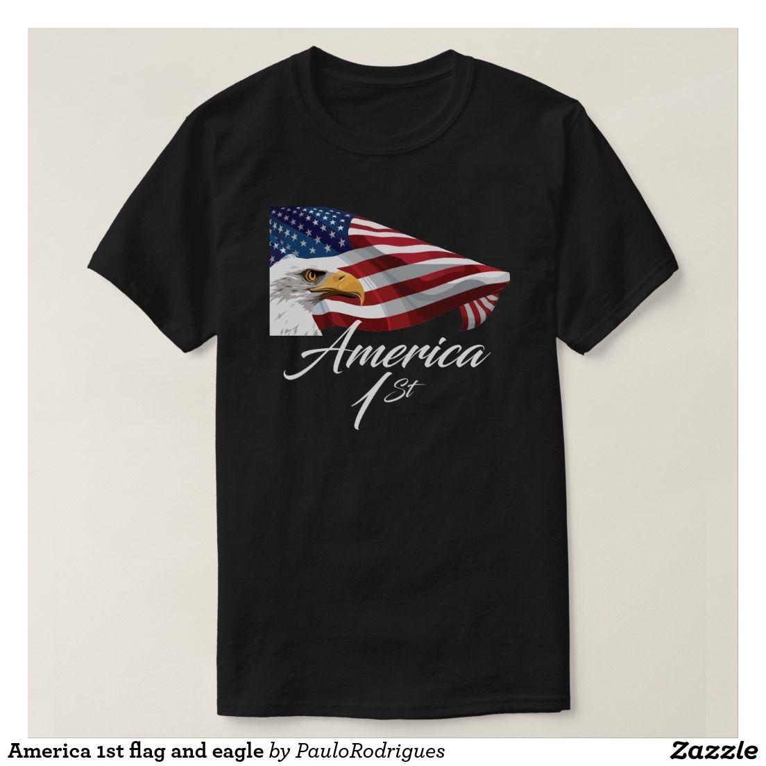 America 1st flag and eagle T-Shirt