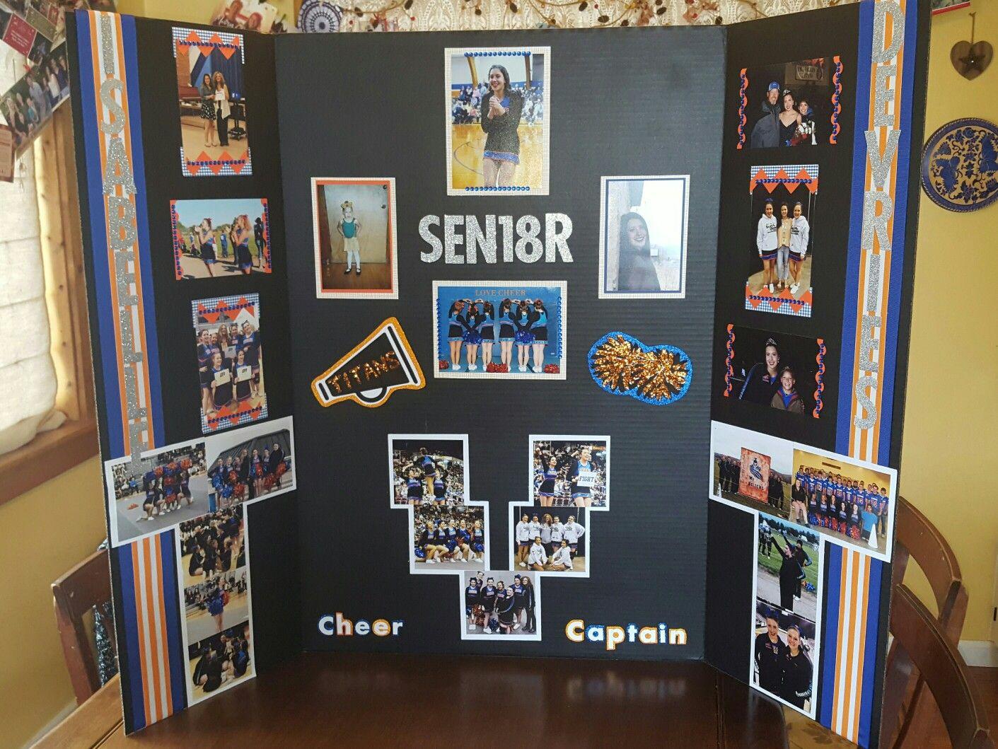 Cheerleader Senior Night Poster Trifold Senior Night Posters Senior Posters Volleyball Senior Night