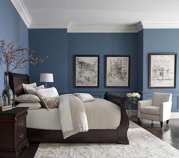 Colore pareti estate 2017 - Pareti blu per la camera da letto ...