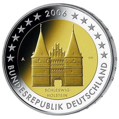 moneda conmemorativa 2 euros alemania 2006 5 monedas monedas 2 euros alemania pinterest. Black Bedroom Furniture Sets. Home Design Ideas