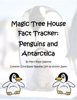 Magic Tree House Fact Tracker Penguins and Antarctica Reading Unit  #Antarctica #Fact #House #Magic #Penguins #reading #Tracker #Tree #Unit