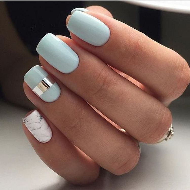 Baby Blue Nail Ideas You Should Try Chic Nails Spring Nail Colors Classy Nails