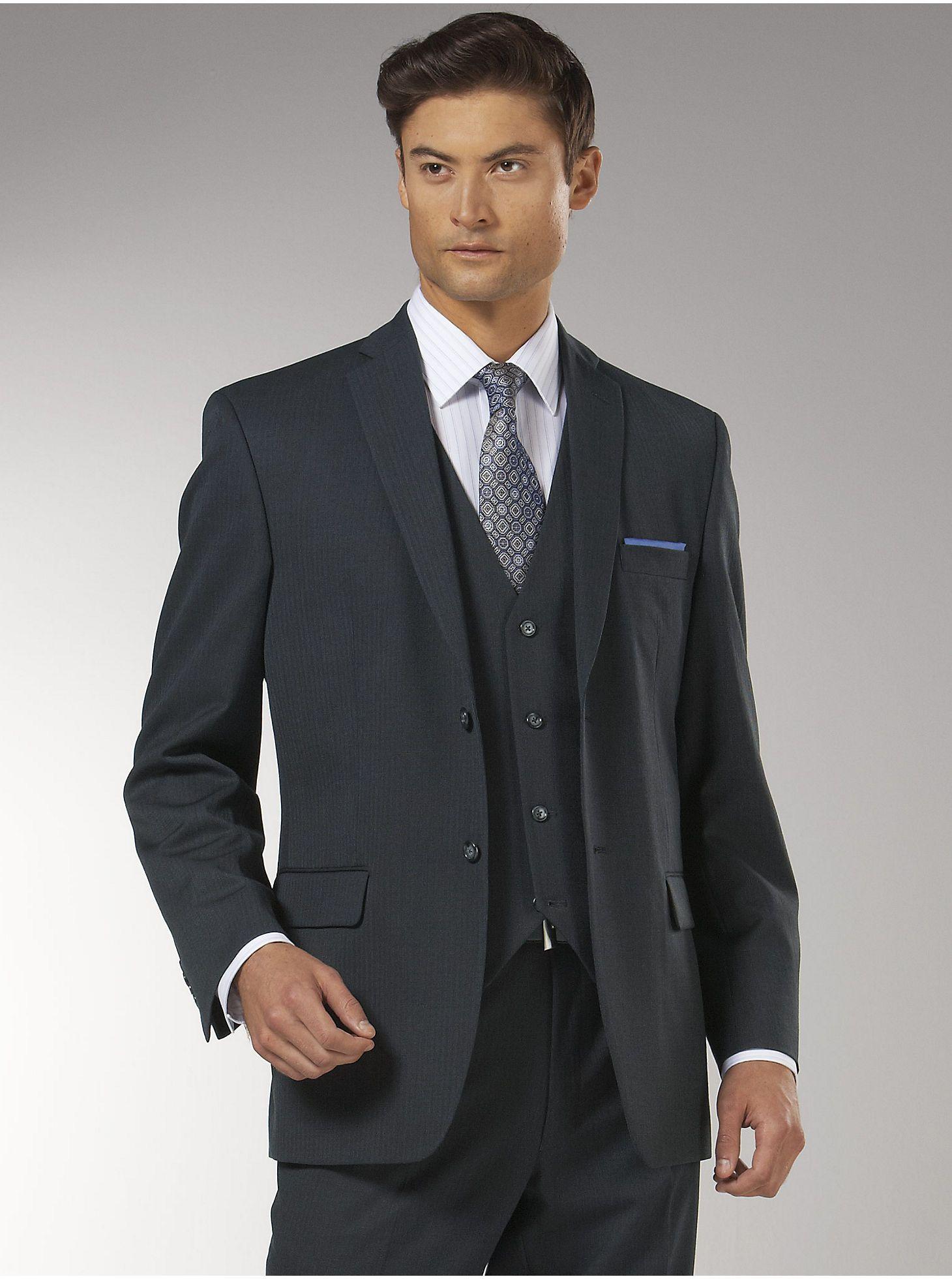 Suits Wilke Rodriguez Charcoal Bone Vested Slim FitSuit