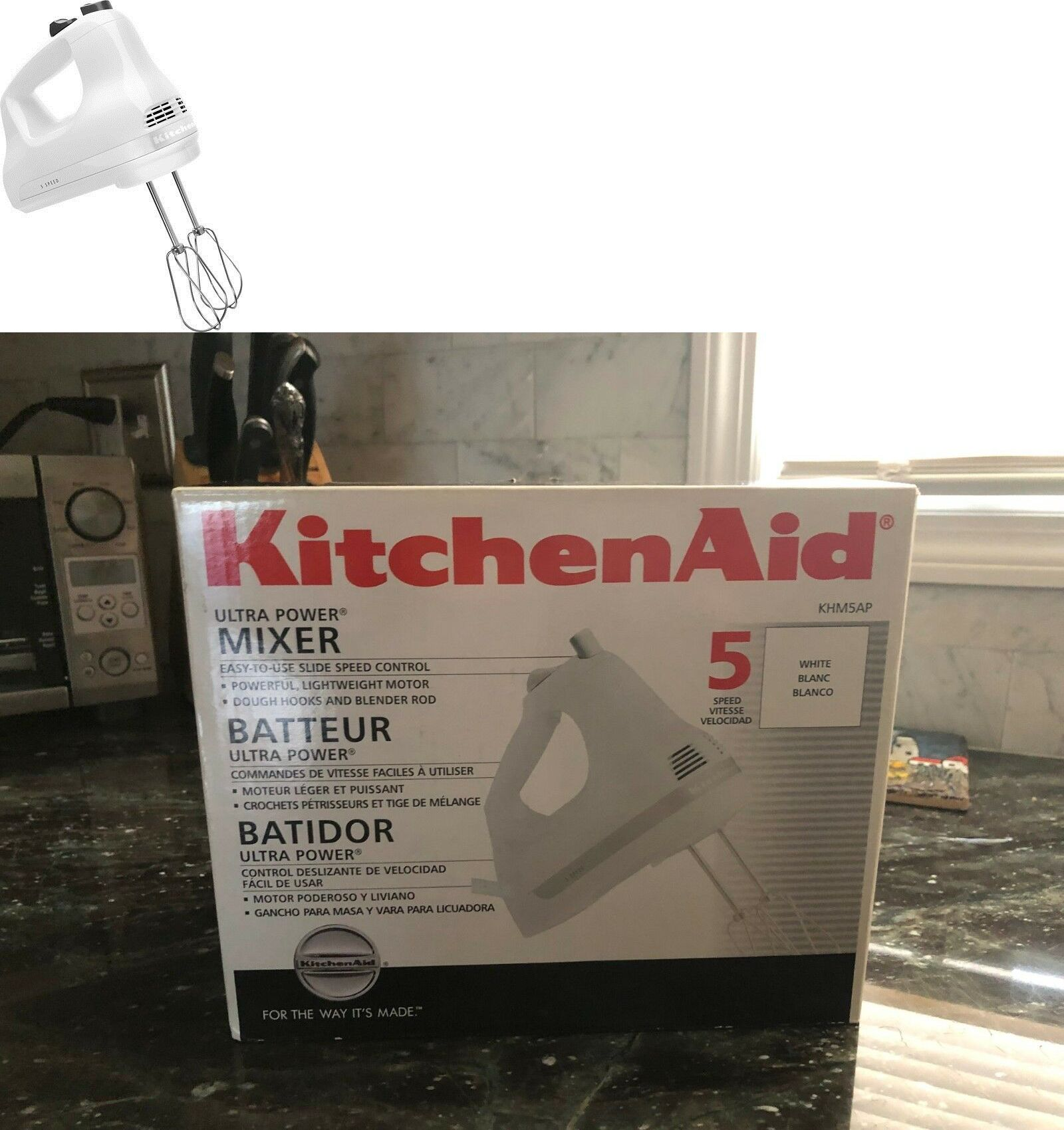 Handheld blenders 184667 kitchenaid khm5ap ultra power 5