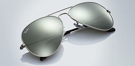 shades ray ban price  Mirror Lens Aviator Sunglasses