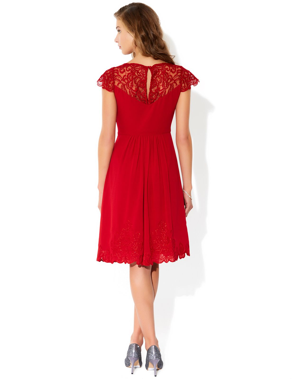 Vicky embroidered dress red monsoon sam dresses pinterest