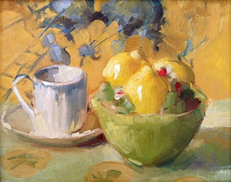 "Still Life In Yellows by Katherine Galbraith Oil ~ 8"" x 10"""