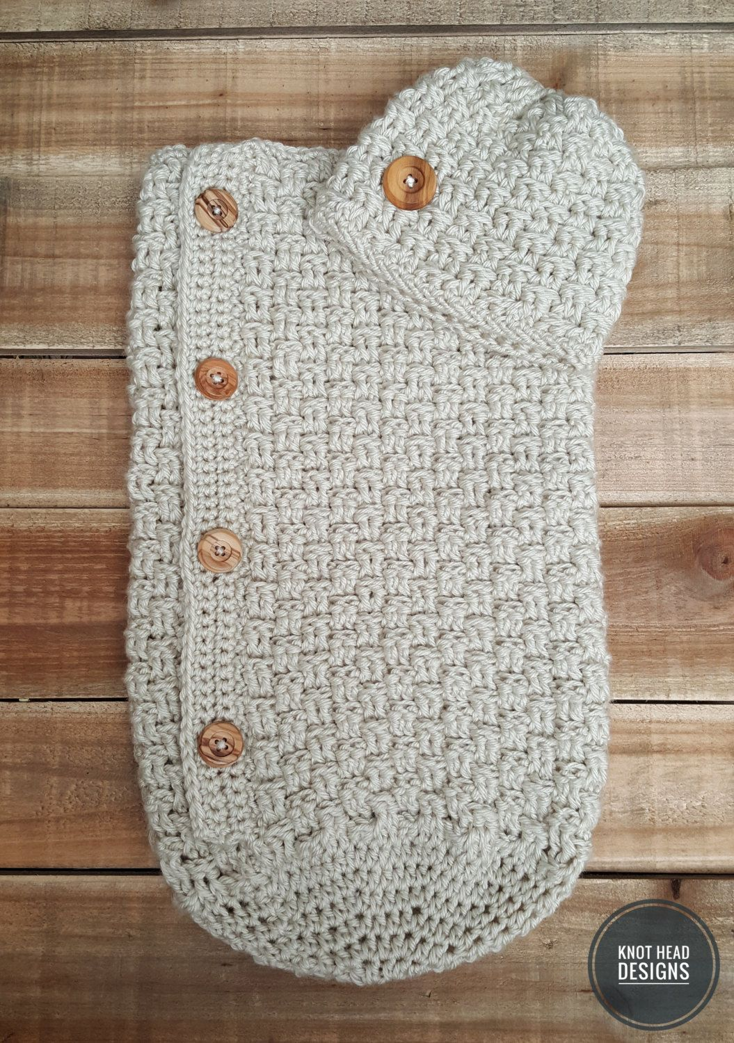 Basket Weave Baby Cocoon and Beanie Set by ShopKnotHead on Etsy ...