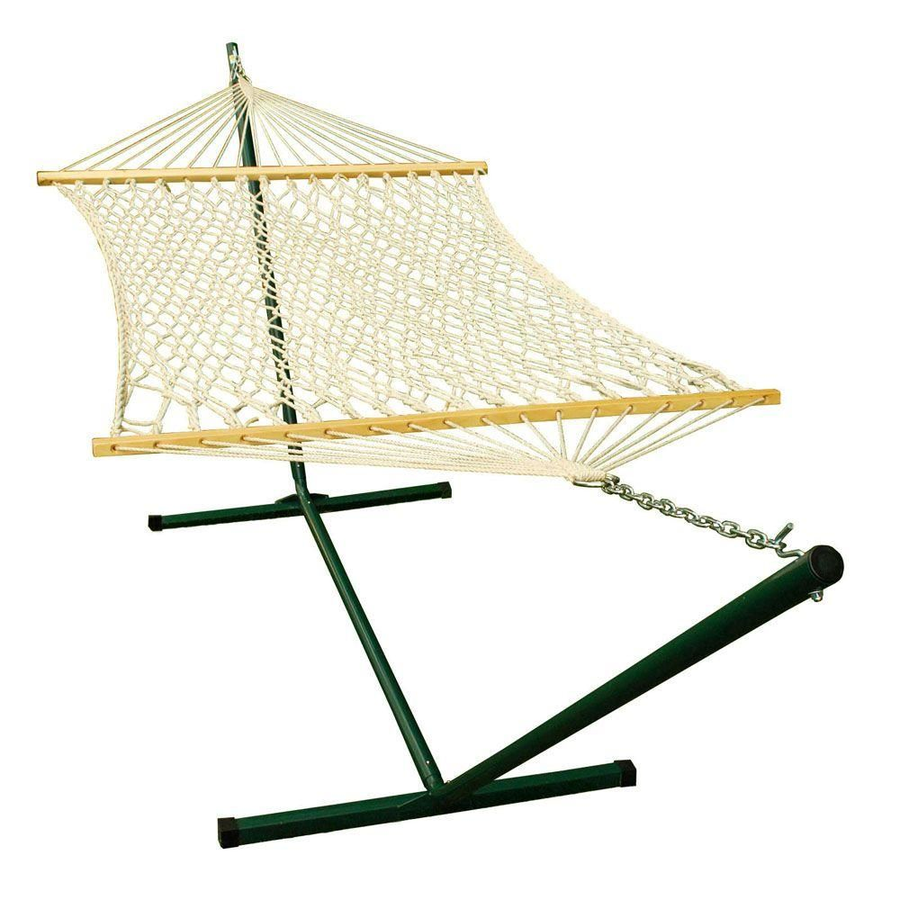 Algoma ft rope hammock and ft steel stand combination