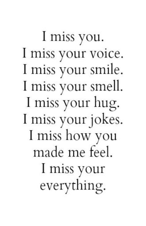 35 I Miss You Quotes For Her Life Pinterest