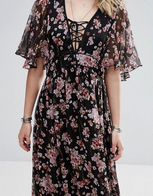 753300fbde7eb4 Mango Floral Print Maxi Dress