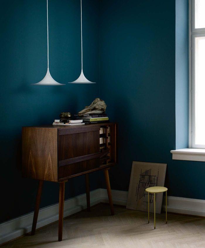 1001 id es d co avec la couleur bleu canard pour une. Black Bedroom Furniture Sets. Home Design Ideas