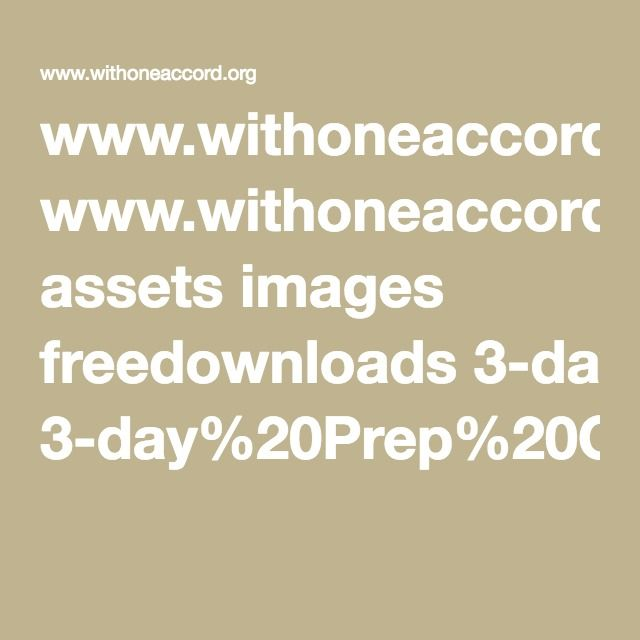 Www Withoneaccord Org Assets Images Freedownloads 3 Day 20prep 20cleanse Pdf Image Day Asset