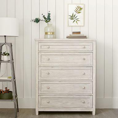 Beadboard 5 Drawer Dresser Simply White Furniture