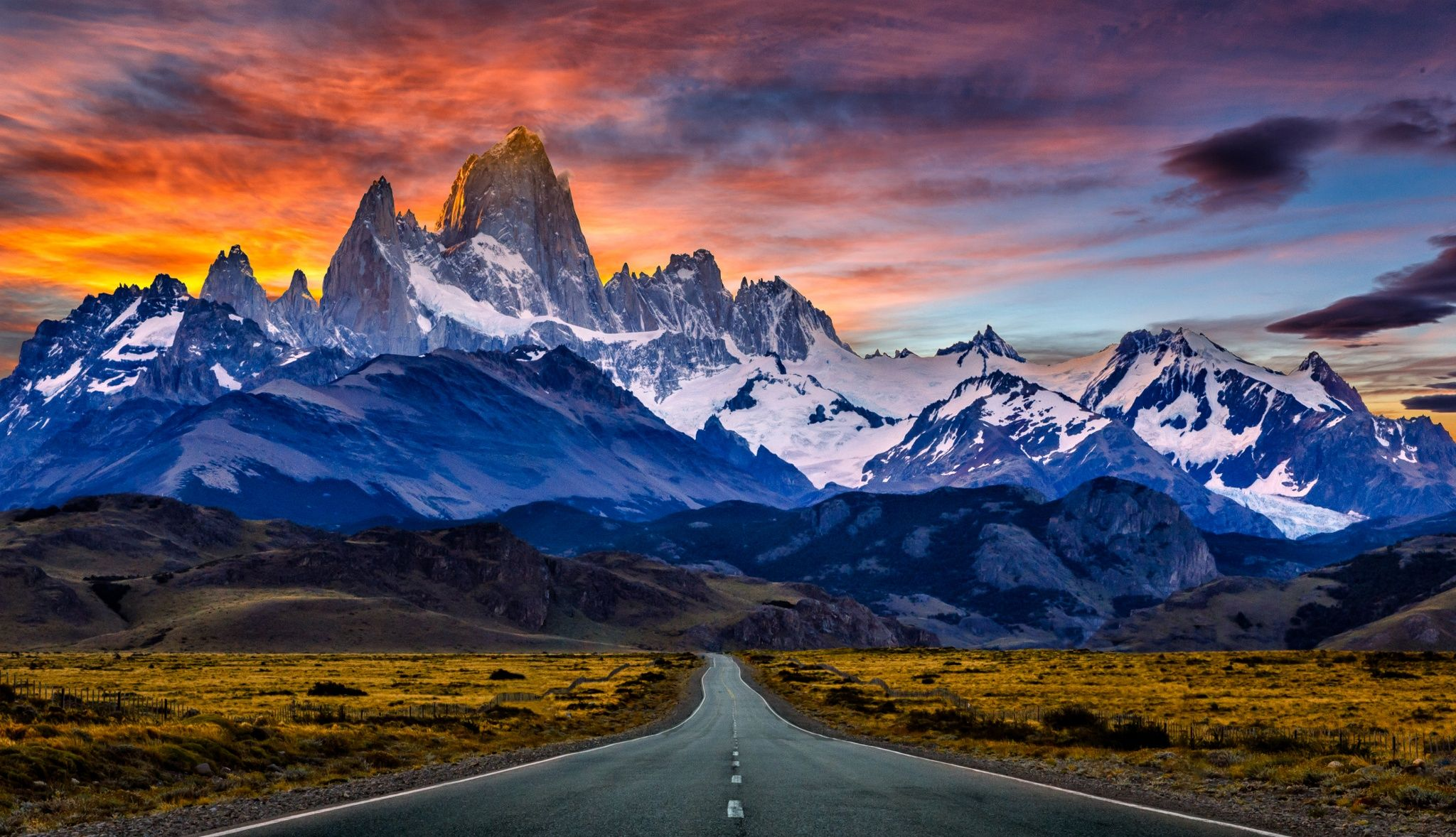 Towards Mount Fitz Roy in the sunset by Kenneth Back on 500px