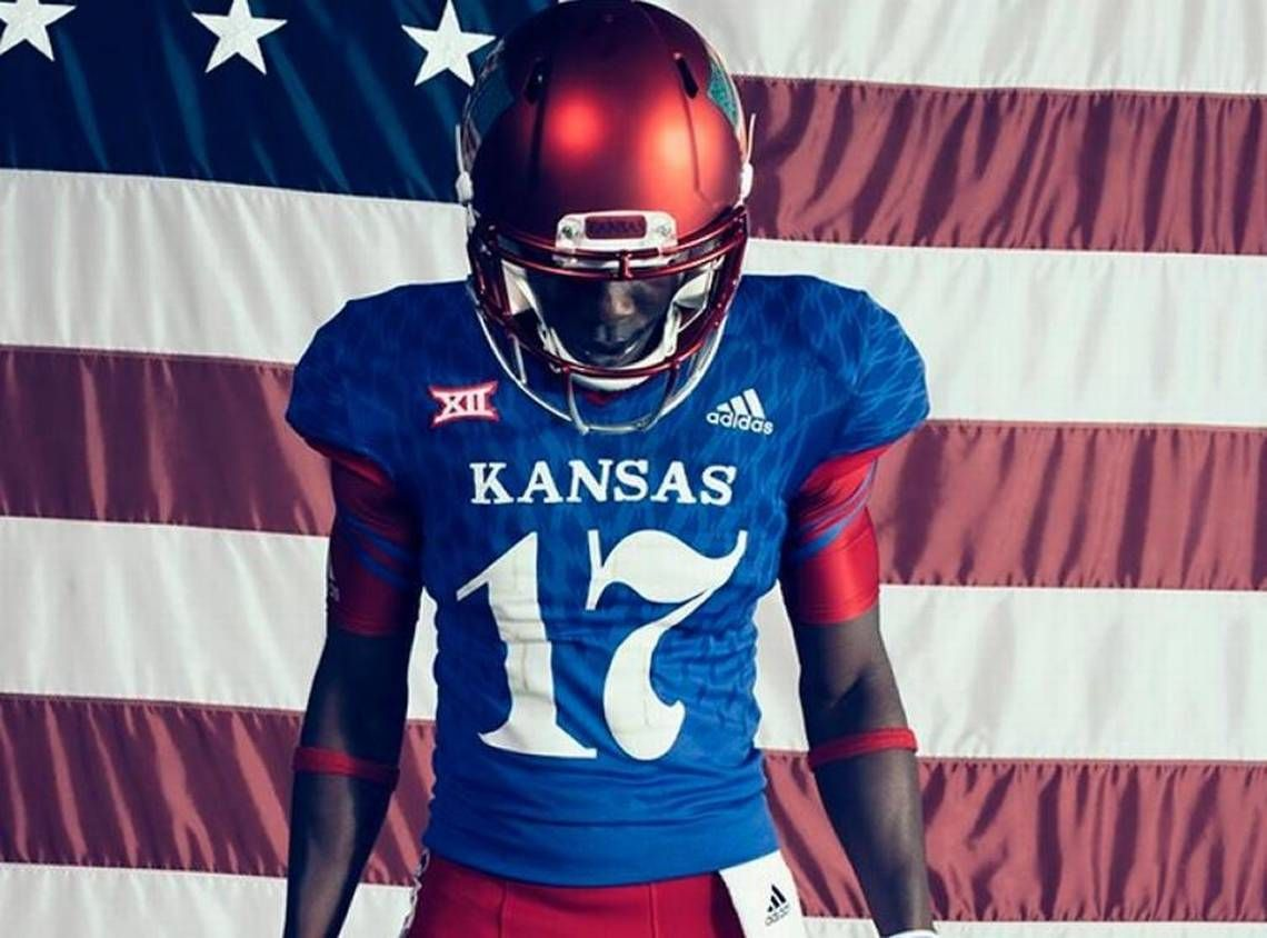 KU football unveils 'JayHawkers' uniforms that harken