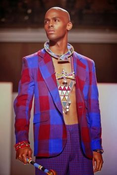 www.cewax a selectionné pour vous ces vêtements hommes ethniques, Afro tendance, Ethno tribal Men's fashion, african prints fashion - Trending Right Now: Maasai Prints /Tartan/Plaid | African Prints in Fashion