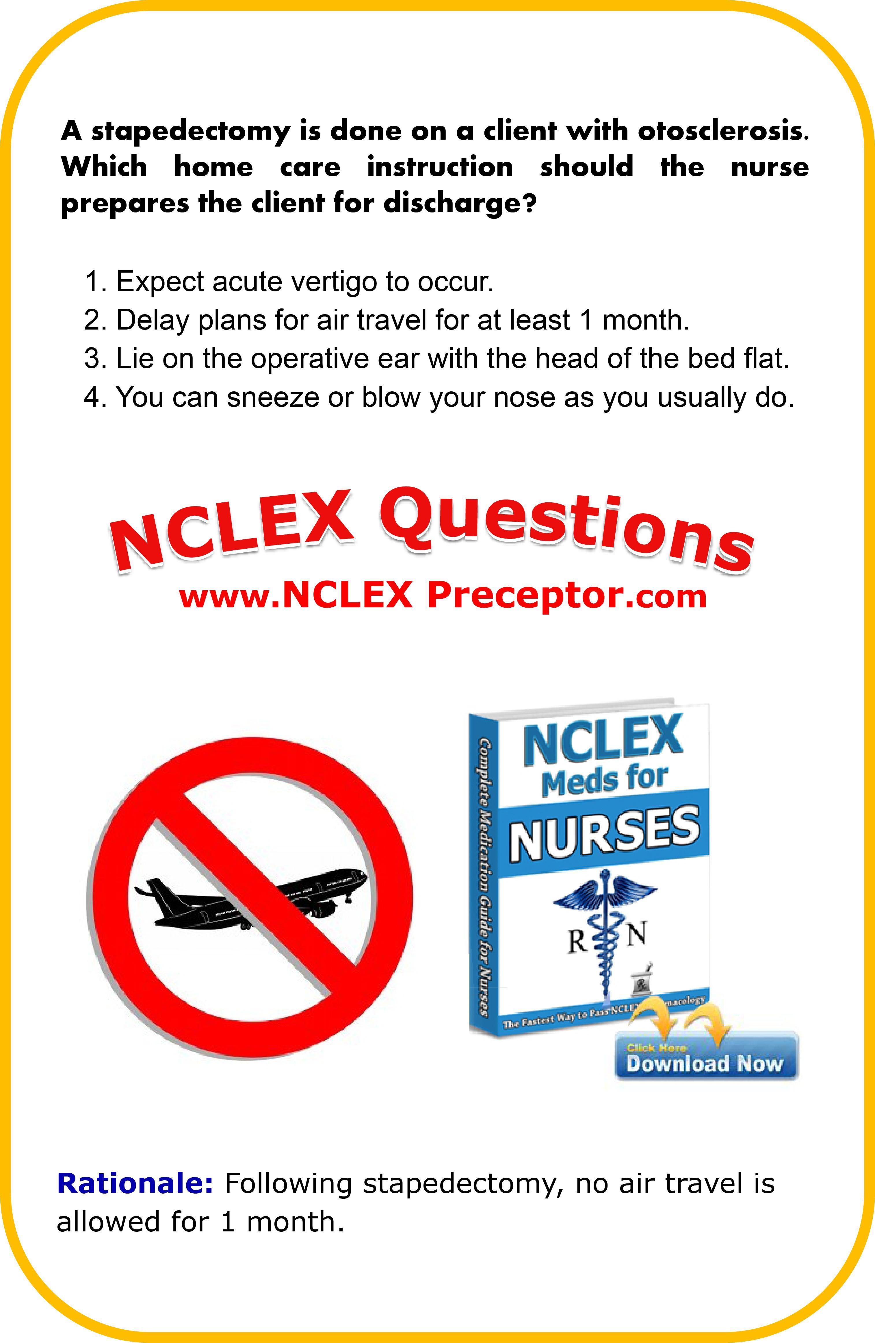 Learn nursing NCLEX interventions. Great place to get FREE practice NCLEX  questions for student nurses