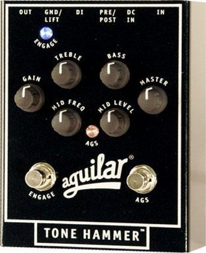 Aguilar Tone Hammer Bass Preamp Direct Box By Aguilar 209 00 This Preamp Direct Box Is So Strong And Powerful It Could Only Direct Boxes Bass Effects Pedals