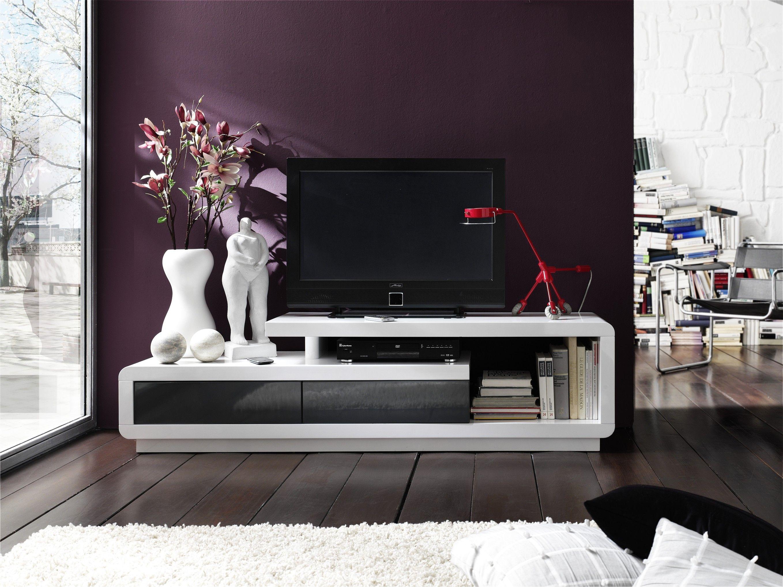 Tv Lowboard Hochglanz Weiss Lackiert Woody 41 01202 Grau MDF Modern Jetzt  Bestellen Unter