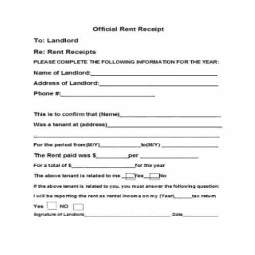 34 Free Rent Receipts Templates Editable Besty Templates Receipt Template Receipts Templates