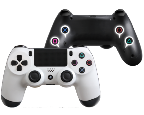 Playstation 4 Glossy White Pro Controller Ps4 Pro Controller Ps4 Controller Custom Control