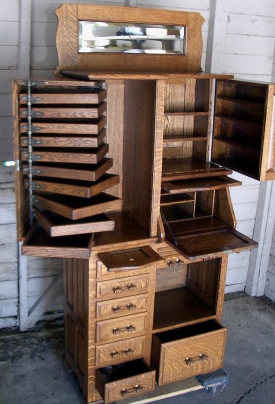 19th Century Quarter Sawn Oak Harvard Dental Cabinet I