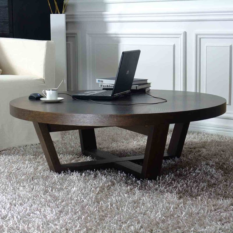 round coffee table table basse ronde tables pinterest. Black Bedroom Furniture Sets. Home Design Ideas