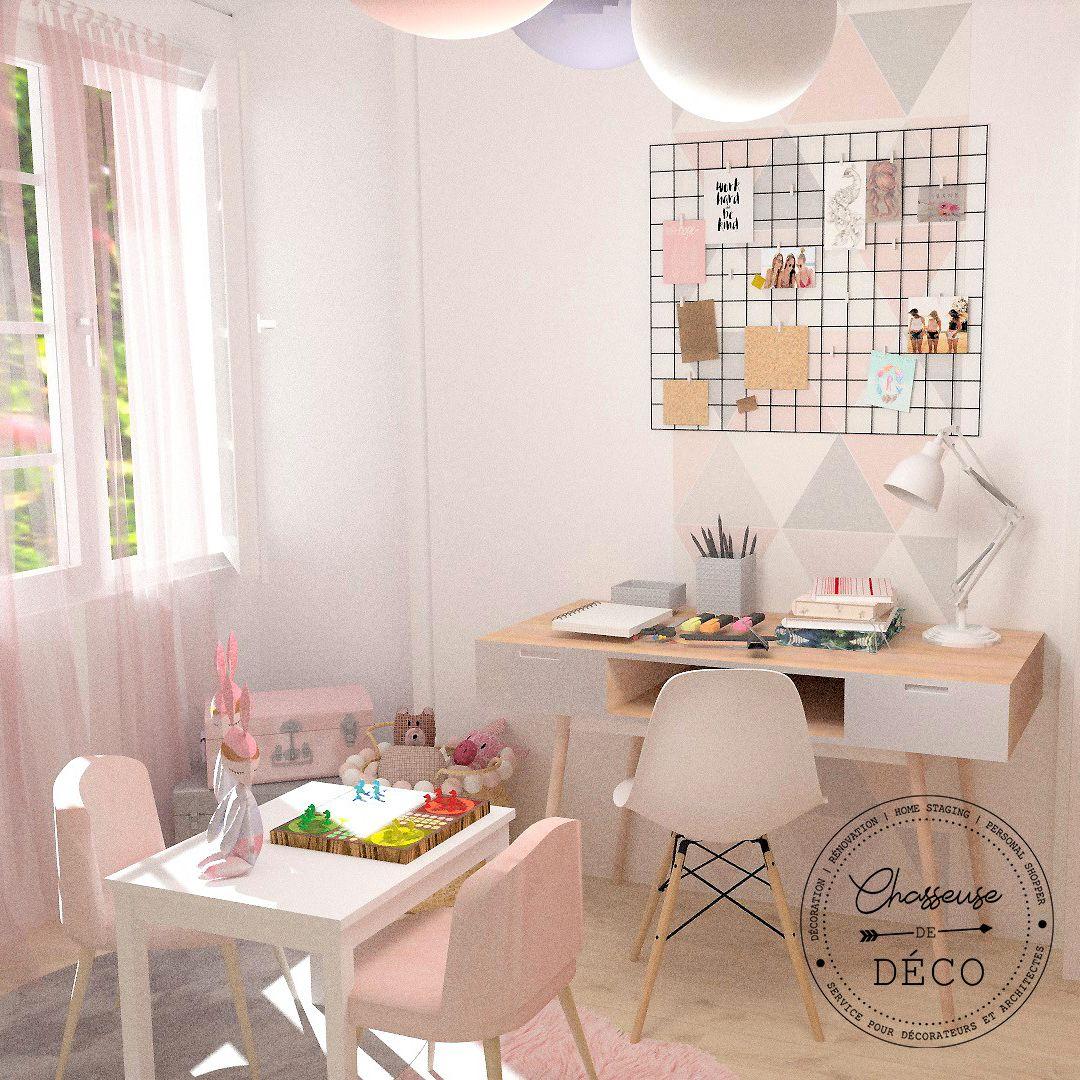 Chambre de rêve pour petite fille  Déco chambre rose et gris