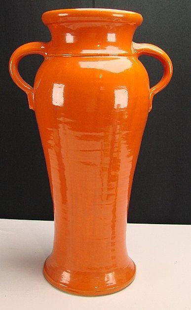 Bauer Matt Carlton Orange Rebekah Pottery Vase 19 34 Bauer